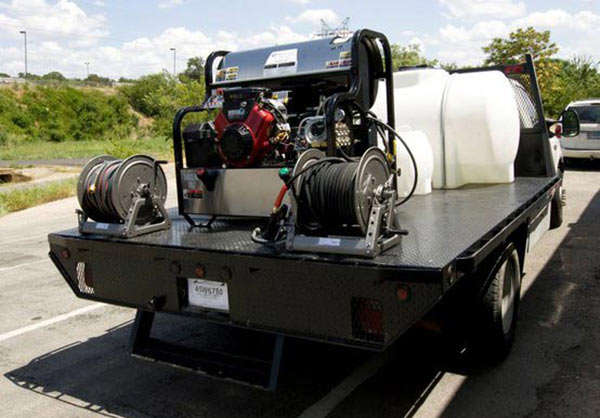 Complete Flatbed Power Washer Rig